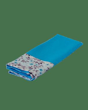 Голубое кухонное полотенце из вафельной ткани