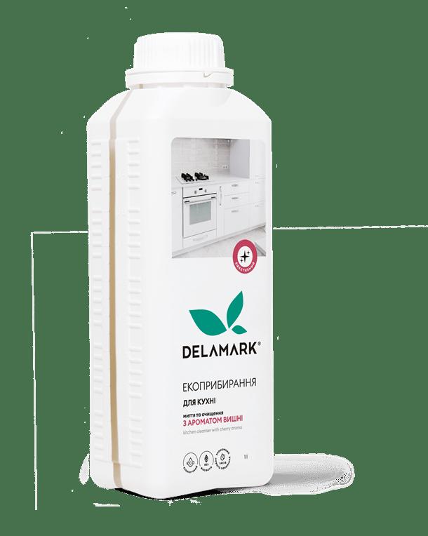 Засіб для миття кухні DeLaMark з ароматом вишні, 1 л