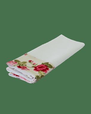 Белое кухонное полотенце из вафельной ткани