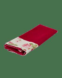 Темно-красное кухонное полотенце из вафельной ткани