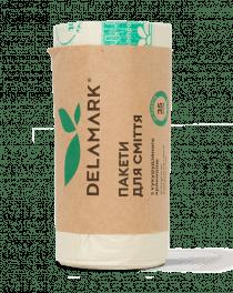 Биоразлагаемые пакеты для мусора DeLaMark